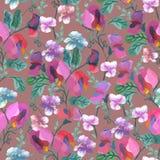 Άνευ ραφής τροπικό σχέδιο με τα καταπληκτικά εξωτικά λουλούδια Στοκ εικόνες με δικαίωμα ελεύθερης χρήσης