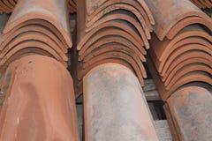 άνευ ραφής τρύγος κεραμιδιών σύστασης προτύπων Baumaterial Στοκ Εικόνα