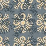 άνευ ραφής τρύγος προτύπων Παλαιά βασιλική διακόσμηση background retro ελεύθερη απεικόνιση δικαιώματος