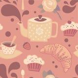 άνευ ραφής τσάι προτύπων Στοκ εικόνα με δικαίωμα ελεύθερης χρήσης
