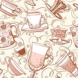 άνευ ραφής τσάι προτύπων διανυσματική απεικόνιση