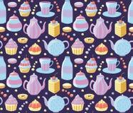 άνευ ραφής τσάι προτύπων Στοκ Εικόνες