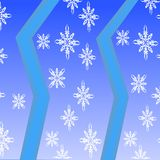 Άνευ ραφής τυρκουάζ σχέδιο με snowflakes Στοκ Εικόνα