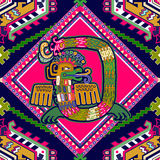 Άνευ ραφής των Αζτέκων σχέδιο Στοκ Εικόνες