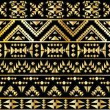 Άνευ ραφής των Αζτέκων ύφος deco τέχνης σχεδίων, διανυσματική απεικόνιση Στοκ εικόνα με δικαίωμα ελεύθερης χρήσης