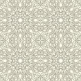 άνευ ραφής τόνοι προτύπων mandala φύλλων απεικόνισης λουλουδιών πράσινοι Floral εθνική περίληψη Στοκ Εικόνα