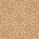 άνευ ραφής τόνοι προτύπων mandala φύλλων απεικόνισης λουλουδιών πράσινοι Floral εθνική περίληψη Στοκ φωτογραφία με δικαίωμα ελεύθερης χρήσης