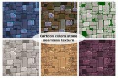 Άνευ ραφής υποβάθρου τοίχος πετρών χρώματος σύστασης διαφορετικός Διανυσματική απεικόνιση για το στοιχείο παιχνιδιών Ui διανυσματική απεικόνιση