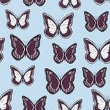Άνευ ραφής υπόβαθρο από τις φωτεινές πεταλούδες ελεύθερη απεικόνιση δικαιώματος