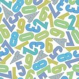 Άνευ ραφής υπόβαθρο αριθμών, διανυσματικό άνευ ραφής σχέδιο Στοκ Εικόνα