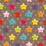 Άνευ ραφής υπόβαθρο αστεριών Kawaii Στοκ εικόνα με δικαίωμα ελεύθερης χρήσης