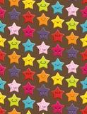 Άνευ ραφής υπόβαθρο αστεριών Kawaii Στοκ Φωτογραφίες