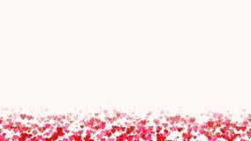 Άνευ ραφής υπόβαθρο βρόχων με τις ρόδινες και κόκκινες χρωματισμένες καρδιές κομφετί για το χρόνο βαλεντίνων ή την ημέρα μητέρων ελεύθερη απεικόνιση δικαιώματος