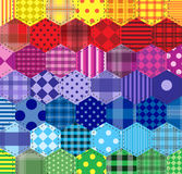 Άνευ ραφής υπόβαθρο 46 γεωμετρικά σχέδια Στοκ Εικόνα
