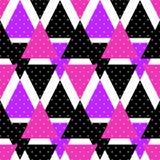 Άνευ ραφής υπόβαθρο γεωμετρικό αφηρημένο τ σχεδίων τριγώνων φωτεινό Στοκ Φωτογραφία