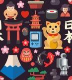 Άνευ ραφής υπόβαθρο εικονιδίων της Ιαπωνίας Στοκ φωτογραφίες με δικαίωμα ελεύθερης χρήσης