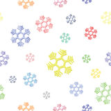 Άνευ ραφής υπόβαθρο ζωηρόχρωμο snowflake Στοκ Εικόνα