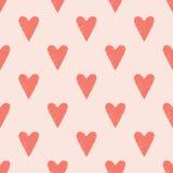Άνευ ραφής υπόβαθρο κακογραφίας καρδιών Στοκ Εικόνα