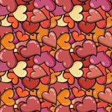 Άνευ ραφής υπόβαθρο καρδιών στην ημέρα βαλεντίνων ` s Αγίου Στοκ φωτογραφίες με δικαίωμα ελεύθερης χρήσης