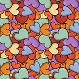 Άνευ ραφής υπόβαθρο καρδιών στην ημέρα βαλεντίνων ` s Αγίου Στοκ Εικόνα