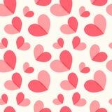 Άνευ ραφής υπόβαθρο 2 καρδιών Στοκ Εικόνα