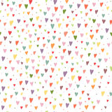 Άνευ ραφής υπόβαθρο κινούμενων σχεδίων με τη ζωηρόχρωμη ΤΣΕ καρδιών και κύκλων Στοκ Φωτογραφία