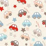 Άνευ ραφής υπόβαθρο με τα αυτοκίνητα διανυσματική απεικόνιση