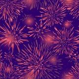 Άνευ ραφής υπόβαθρο με τα αφηρημένα σημεία Ζωηρόχρωμο εορταστικό σχέδιο σχεδίων πυροτεχνημάτων άνευ ραφής Μια νέα σύσταση για το  απεικόνιση αποθεμάτων