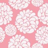 Άνευ ραφής υπόβαθρο με τα αφηρημένα φωτεινά λουλούδια σε ένα ροζ Στοκ φωτογραφία με δικαίωμα ελεύθερης χρήσης