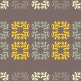 Άνευ ραφής υπόβαθρο με τα διακοσμητικά φύλλα Μωσαϊκό λουλουδιών Στοκ φωτογραφίες με δικαίωμα ελεύθερης χρήσης