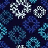 Άνευ ραφής υπόβαθρο με τα διακοσμητικά φύλλα Μωσαϊκό λουλουδιών Στοκ φωτογραφία με δικαίωμα ελεύθερης χρήσης