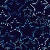 Άνευ ραφής υπόβαθρο με τα διακοσμητικά αστέρια Διαστιγμένα αστέρια Στοκ Εικόνες