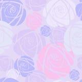 Άνευ ραφής υπόβαθρο με τα ρόδινα τριαντάφυλλα Στοκ Φωτογραφία