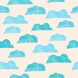 Άνευ ραφής υπόβαθρο με τα σύννεφα ελεύθερη απεικόνιση δικαιώματος