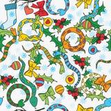 Άνευ ραφής υπόβαθρο με τα χαριτωμένα φίδια Στοκ Φωτογραφίες