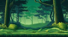 Άνευ ραφής υπόβαθρο με το δάσος διανυσματική απεικόνιση