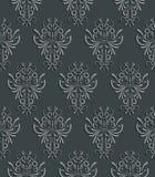 Άνευ ραφής υπόβαθρο με το τρισδιάστατο Floral σχέδιο Στοκ Εικόνα