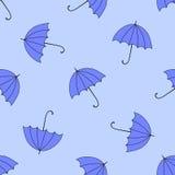 Άνευ ραφής υπόβαθρο με το φθινόπωρο και τα ζωηρόχρωμα parasols Στοκ Εικόνες