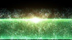 Άνευ ραφής υπόβαθρο μορίων χρώματος βρόχων φιλμ μικρού μήκους