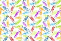 Άνευ ραφής υπόβαθρο ουράνιων τόξων Doodles μολυβιών Στοκ Εικόνα