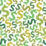 Άνευ ραφής υπόβαθρο δολαρίων, οικονομία και διάνυσμα θέματος χρημάτων seaml διανυσματική απεικόνιση