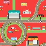 Άνευ ραφής υπόβαθρο παιχνιδιού διαδρομής αγώνα σπορ αυτοκίνητο Στοκ φωτογραφία με δικαίωμα ελεύθερης χρήσης
