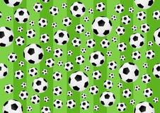Άνευ ραφής υπόβαθρο ποδοσφαίρου Στοκ εικόνα με δικαίωμα ελεύθερης χρήσης