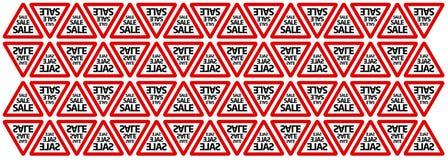 Άνευ ραφής υπόβαθρο σημαδιών οδικής πώλησης Στοκ Φωτογραφία