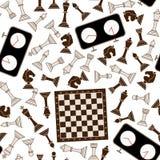 Άνευ ραφής υπόβαθρο σκακιού Στοκ εικόνες με δικαίωμα ελεύθερης χρήσης