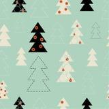 Άνευ ραφής υπόβαθρο στη Χαρούμενα Χριστούγεννα και το νέο έτος Στοκ Εικόνες