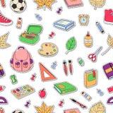 Άνευ ραφής υπόβαθρο, σχέδιο, ταπετσαρία, σύσταση Πρότυπο για το ιπτάμενο, διαφήμιση, έμβλημα Διανυσματικά εικονίδια doodle Στοκ φωτογραφία με δικαίωμα ελεύθερης χρήσης