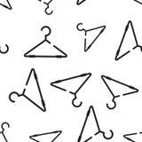 Άνευ ραφής υπόβαθρο σχεδίων κρεμαστρών ενδυμάτων Επιχειρησιακό επίπεδο διάνυσμα Στοκ εικόνα με δικαίωμα ελεύθερης χρήσης