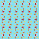 Άνευ ραφής υπόβαθρο σχεδίων με τα αστέρια, ζωηρόχρωμη απεικόνιση ελεύθερη απεικόνιση δικαιώματος