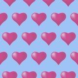 Άνευ ραφής υπόβαθρο σχεδίων με τις καρδιές, ζωηρόχρωμη απεικόνιση Τυπογραφία διακοπών ημέρας βαλεντίνων ελεύθερη απεικόνιση δικαιώματος